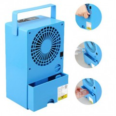 Portable Air Conditioner Fan 9.5-Inch Small Desktop Personal Misting Fan